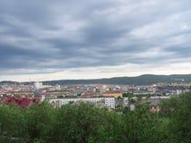 MOURMANSK, RUSSIE Horizontal de ville Photographie stock libre de droits