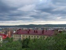 MOURMANSK, RUSSIE Horizontal de ville Photos libres de droits