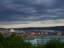 MOURMANSK, RUSSIE Horizontal de ville Photo stock