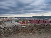 MOURMANSK, RUSSIE Horizontal de ville Photographie stock