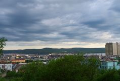 MOURMANSK, RUSSIE Horizontal de ville Photo libre de droits
