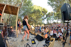 Mourn band from Catalonia in concert at Vida Festival Royalty Free Stock Photos