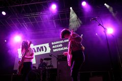 Mourn band in concert at BAM Festival Stock Image