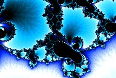 Blue, teal and white colors elegant fractal royalty free stock photos