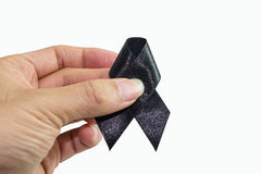 Mourn ribbon Stock Photo