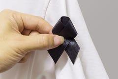 Mourn ribbon Royalty Free Stock Photo