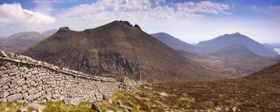 Mourne ściana w Mourne górach w Północnym - Ireland Fotografia Stock