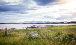 Mourne Mountains seen from Kearney Point Stock Image