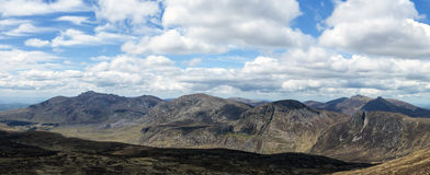 The mournes. The mourne mountains in ireland a panorama Stock Images