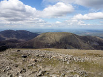 The mournes. Slieve corragh and slieve naglogh in the mourne mountain range ireland Royalty Free Stock Images