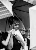 Mournful in funeral RAMA IX stock photos