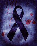 Mourning. Symbol on a parchment royalty free stock photo