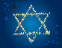 Mourning background with the star of David Royalty Free Stock Photo