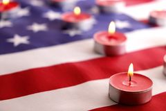 Background flag of the United States of America for national federal holidays celebration and mourning remembrance day. USA symbol stock photos