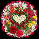 Mourning  circle bouquet Stock Image