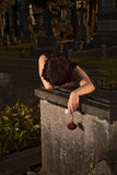 Mourning in darkness Royalty Free Stock Photo