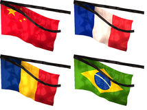 mourning flags Stock Images