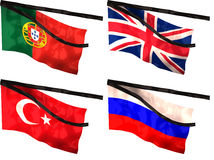 Mourning Flags Royalty Free Stock Image