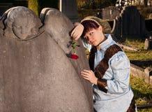 Mourning lady Stock Photo