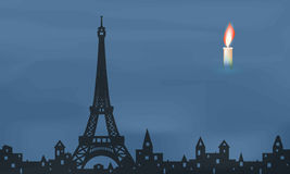 Mourning in Paris Stock Photo