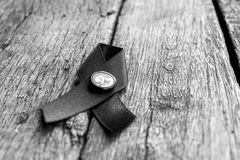 Mourning ribbon. For Thailand beloved king royalty free stock photography