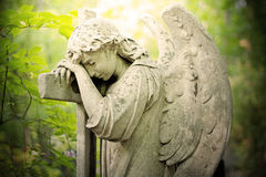 The Mourning. Statue of an angel mourning Stock Photo