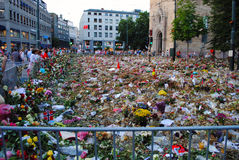 Mourning terror victims in Oslo Royalty Free Stock Image