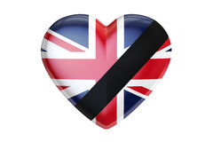 Mourning in United Kingdom concept, 3D rendering Royalty Free Stock Image