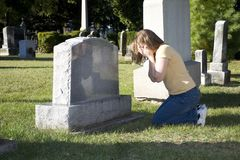 Mourning Woman Stock Photography