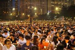 Mournment van de dood in Vierkant Tiananmen in 1989 Stock Afbeeldingen