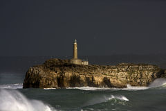 Mouro island lighthouse stock photography