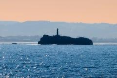 The Mouro Island lighthouse stock photo
