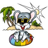 Mouse 01 Hawai. High detailed and coloured illustration stock illustration