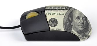 Mouse. A mouse used earning money Stock Image