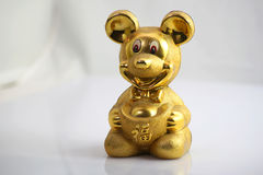 Mouse. A golden color mouse receiver Royalty Free Stock Photography
