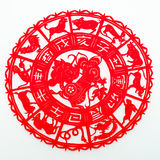 Mouse. The paper cutting. The Chinese Zodiac Stock Photo