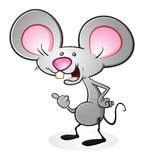 Mouse. He's a mouse, pointing at something with his thumb! He can be pointing at anything you want him to be pointing at Royalty Free Stock Images