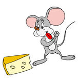 Mouse. And cheese Stock Photo