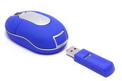 Mouse. With wireless interface Royalty Free Stock Photos