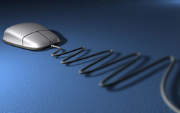 Mouse. On blue background - 3d render Stock Photo
