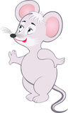 Mouse. Comic gray smiling little mouse Royalty Free Stock Photo