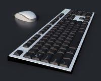 mouse 3D e una tastiera di due toni Immagini Stock