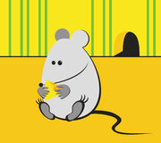 Mouse. The illustration representing the thick mouse which has gorged on cheese Stock Photography