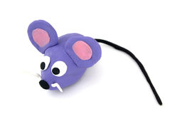 Mouse. Sympathetic mouse made of plasticine Stock Photography