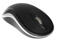Mouse. A modern, wireless computer mouse isolated Royalty Free Stock Photography