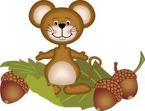 Mouse and acorn Stock Photo