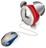 Mouse and  alarm clock concept Stock Photo
