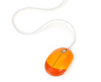 Mouse arancione del calcolatore Immagine Stock Libera da Diritti