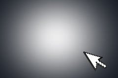 Mouse Arrow Cursor on Corner Stock Photo