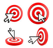 Mouse arrow cursor pointing at the target Stock Images